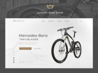 Luxury Bike Shop e-Commerce Concept