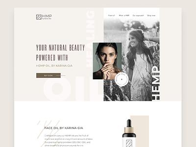Hemp CBD Cosmetics Website cannabis e-commerce shop figma luxury website luxury branding luxury design cosmetics hemp oil cbd oil hemp