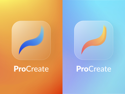 Procreate Icon PlayOff glassmorphism glass logo