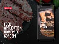 Food App design concept