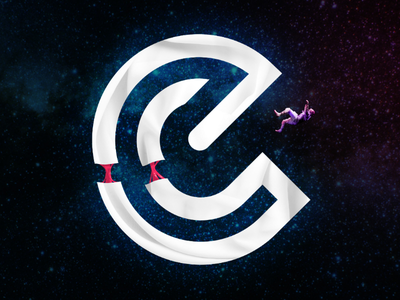 E space letter cool stars spaceman colour challenge dribbble designer design graphic design space