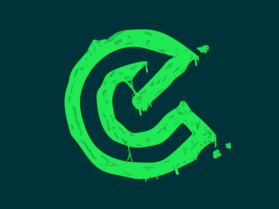 E Drip illustrating illustrator slime green trend rad drip graphic designer graphic design
