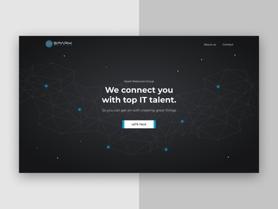 Landing Page - Spark Resource Group talent staffing web design website landing page design