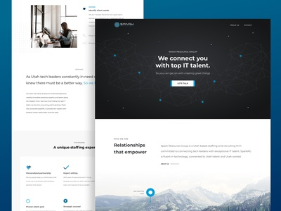 Landing Page - Spark Resource Group web design website staffing recruiting tech it ui ux design landing page