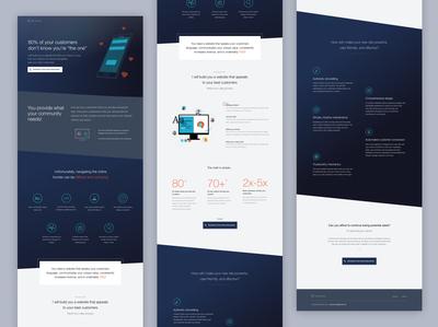 Personal Web Design Lending Page