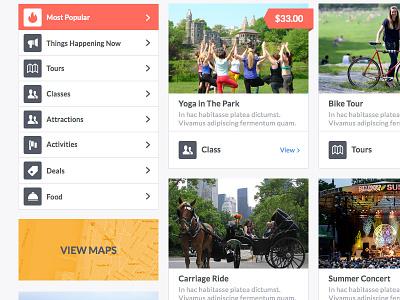 Responsive Design w/Events & Complex Nav website design web responsive events color ui ux mobile minimal clean
