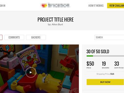 Transactional Design (Responsive) ui ux transaction ecommerce crowdfunding mobile website design responsive