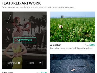 Interactive Art Gallery Platform ecommerce web design web app responsive mobile ux ui custom art