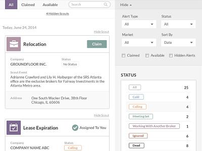 Lead Gen / Prospecting Tool UI / UX web app ui ux mobile responsive design website design app development filters