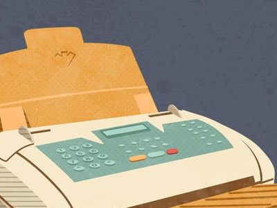 Remember Fax Machines? illustration infographic vintage