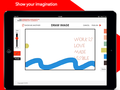 Interactive App for the Rubin (NYC) app mobile tablet interactive experience drawing social streaming art museum