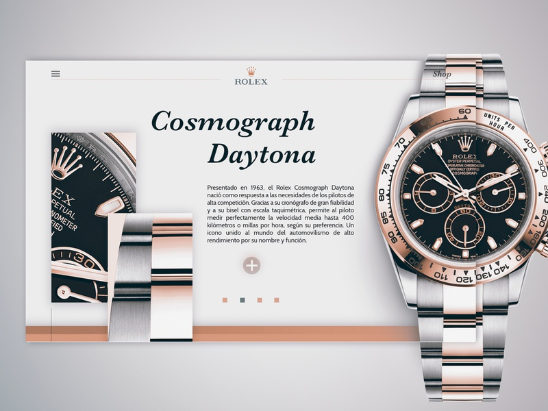 -Rolex- minimaldesign minimal home page dribbble design behance website webdesign web rolex