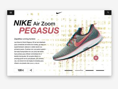 -Nike Pegasus- inspiration portfolio dribbble behance web 2.0 comerce photoshop nike design website webdesign web
