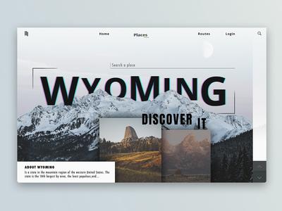 Travel // Wyoming ui page portfolio photoshop inspiration home dribbble behance website webdesign web design