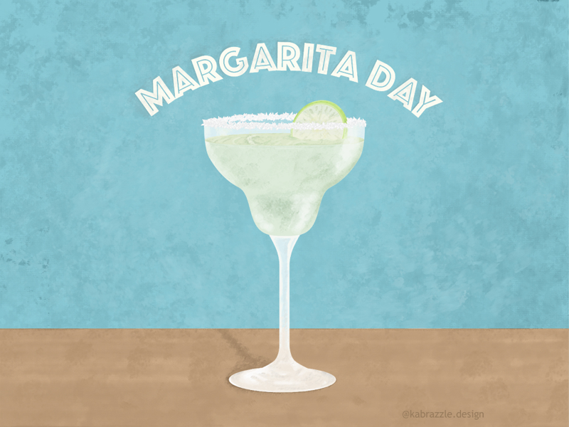 Margarita Day! photoshop margarita national margarita day margarita day illustrator illustration graphic design childrens book illustration childrens book cherry pie adobe