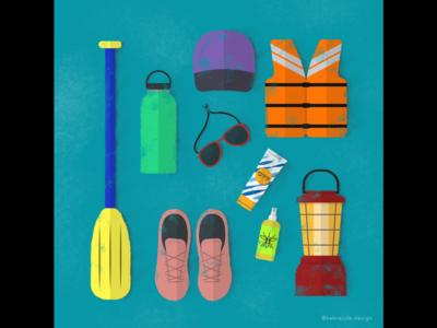 Whitewater Rafting Camping Trip