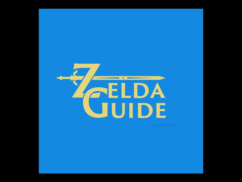 Zelda Guide Logo Concept type based logo typography type sword link legend of zelda zelda flat graphic design logo concept logo design logo
