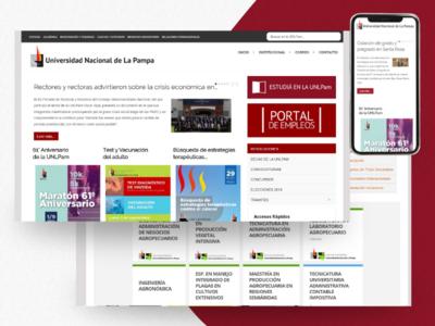 UNLPam - University Web Portal