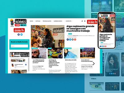 Radio Kermés - Independent News Radio / Web UI