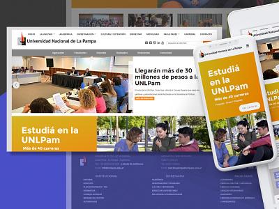 UNLPam - new redesign redesign website university ux ui web design