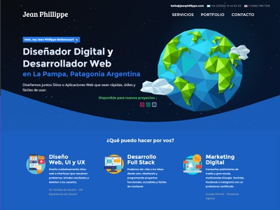 Jean Phillippe - Portfolio Rework patagonia lapampa argentina branding website design ux ui web portfolio