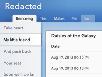 Web UI for [redacted], part 2