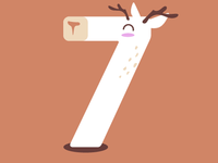 yes! it's a cute number seven deer