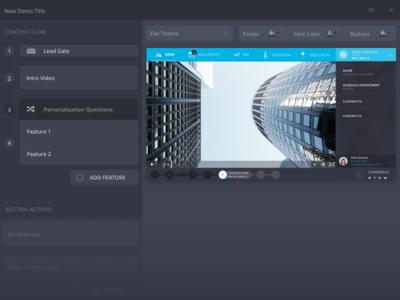 Demo Builder editor builder video