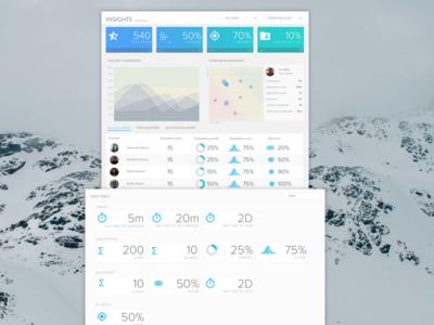 Data Dashboard dashboard ui display data light