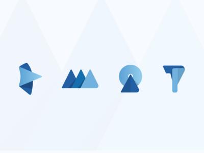 Product branding concepts branding micro logos