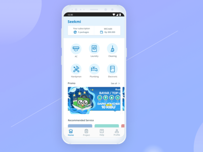 Seekmi App Homepage Redesign Concept