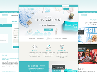 Causebox website website social charity teal subscription ecommerce designbycosmic causebox sevenly