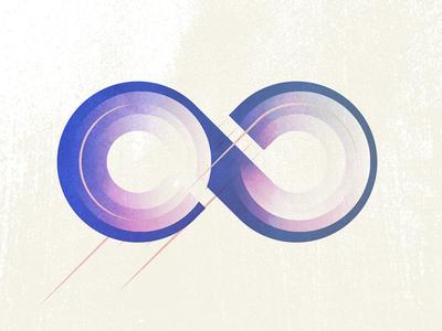 Focusing the Infinite article gradient blog designbycosmic infinity illustration