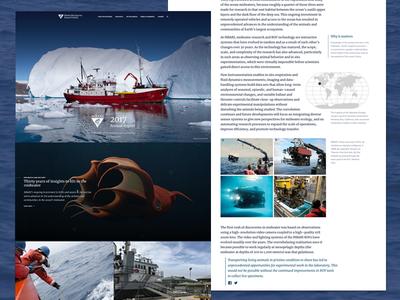 Digital Annual Report for MBARI website socialimpact ocean nonprofit annualreport