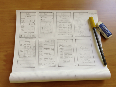 Wire Sketch wireframe sketch ui ios app dot grid book