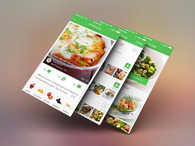 Mobile Interface Design - Handpick food ios mobile interface ui food social