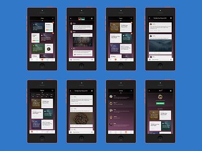 Chats & Topics ui ux user flow chats topics social profile