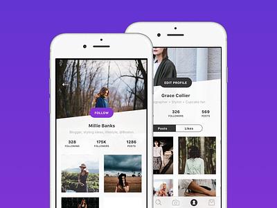 User Profile user profile ui ux user experience blog social app