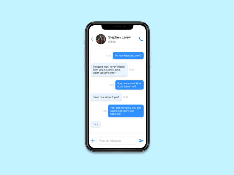 Messaging app - Daily UI 12
