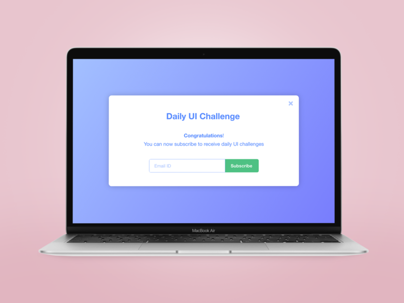 Pop up - Daily UI 15