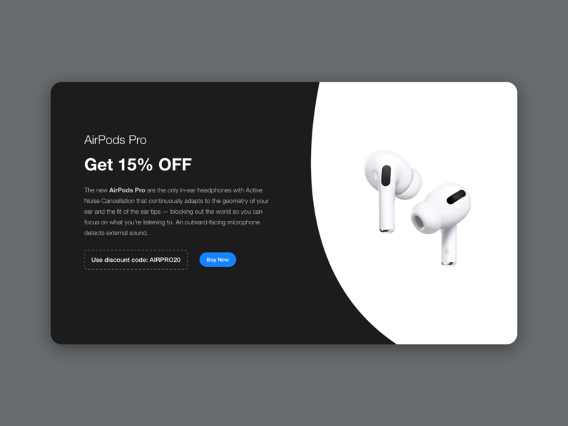 Special Offer - Daily UI 30