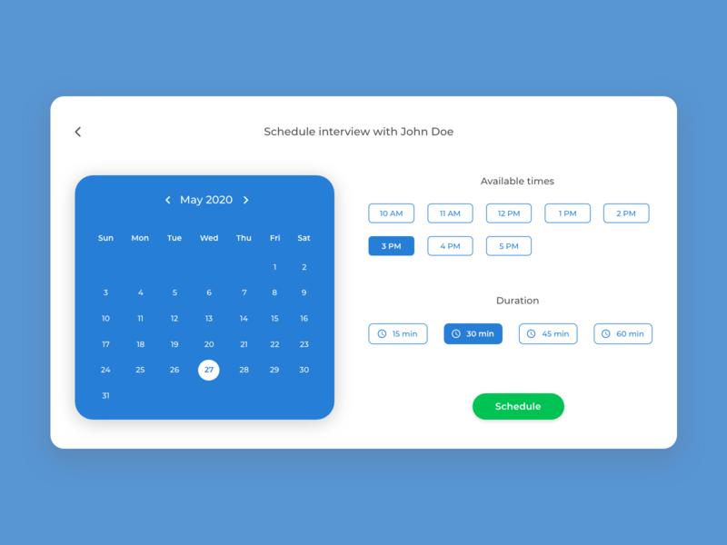 Calendar - Daily UI 38