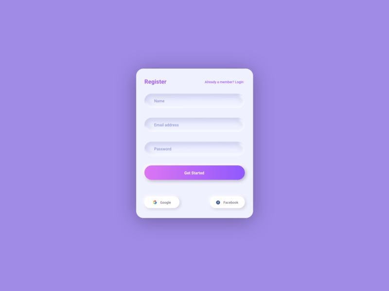 Form Design - Soft UI/Neumorphism clean ui trend skeumorphism visual design web design ux design mobile ui ux app design adobe xd neumorphism soft ui form design form uiux web app ui design ui dribbble