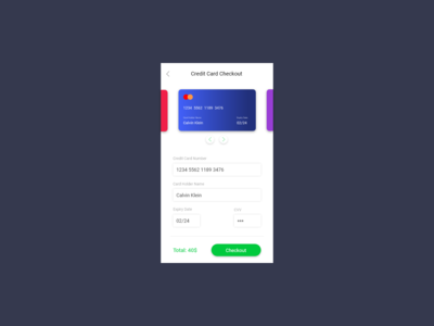 Credit Card Checkout - Daily UI 02