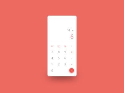 Calculator - Daily UI 04