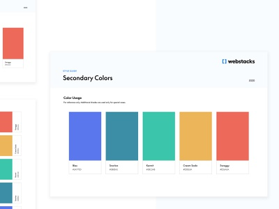 Brand Style Guide   Webstacks brand and identity iconography typography color palette agency branding branding design figma style guides design brand identity agency branding brand style guide