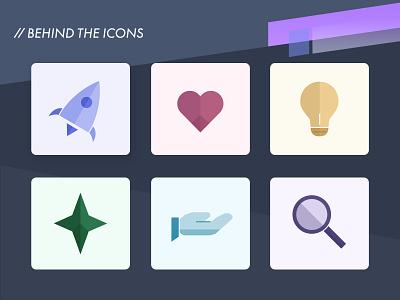 Custom Icons   Process design icons iconography process custom icons