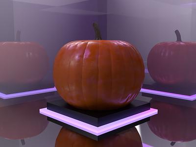 Pumpkin   30 Days of 3D blender adobe dimension 3d artist 3d art halloween pumpkin 3d