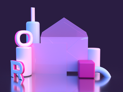 30 Days of 3D | Day #04 colorful lighting adobe dimension blender 3d artist 3d