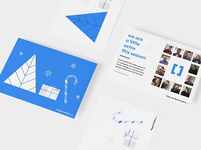 Happy Holidays   Webstacks Christmas Card team print design card design card agency christmas card holiday card